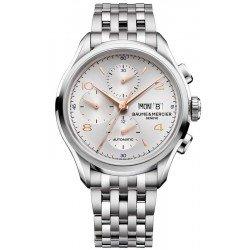 Orologio Baume & Mercier Uomo Clifton 10130 Cronografo Automatico