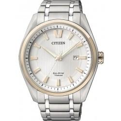 Orologio da Uomo Citizen Super Titanium Eco Drive AW1244-56A