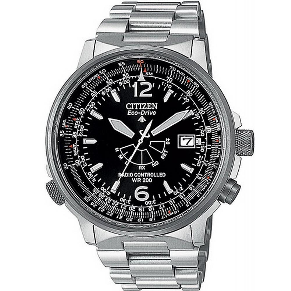 Citizen as2020 53e radiocontrollato pilot orologio uomo al for Orologi svizzeri uomo