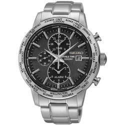 Orologio Seiko Uomo SPL049P1 World Time Cronografo Alarm Quartz