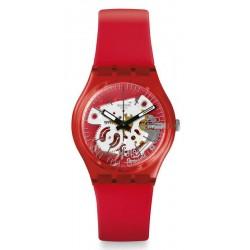 Orologio Swatch Unisex Gent Rosso Bianco GR178