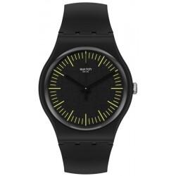 Orologio Swatch Unisex New Gent Blacknyellow SUOB184