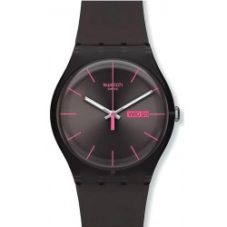 Orologio Swatch Unisex New Gent Brown Rebel SUOC700