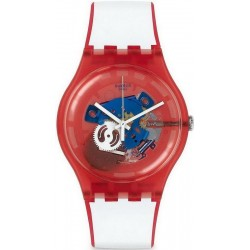 Orologio Swatch Unisex New Gent Clownfish Red SUOR102