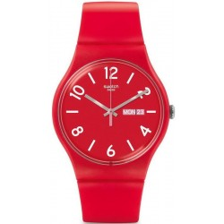 Orologio Swatch Unisex New Gent Backup Red SUOR705