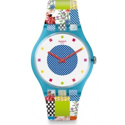 Orologio Swatch Donna New Gent Quilted Time SUOS108