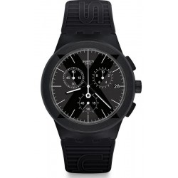 Comprare Orologio Swatch Uomo Chrono Plastic X-District Black SUSB413