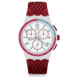 Comprare Orologio Swatch Unisex Chrono Plastic Red Track SUSM403