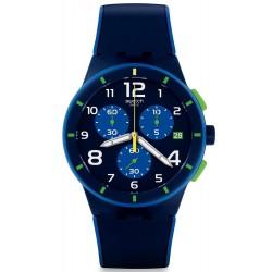 Comprare Orologio Swatch Uomo Chrono Plastic Bleu Sur Bleu SUSN409