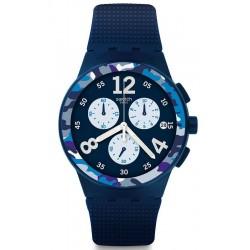 Orologio Swatch Uomo Chrono Plastic Camoblu SUSN414