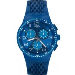 Comprare Orologio Swatch Unisex Chrono Plastic Triple Blu SUSN415