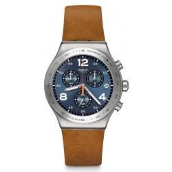 Orologio Swatch Uomo Irony Chrono Cognac Wrist YVS470